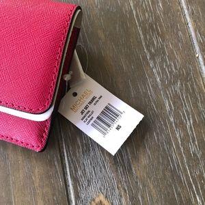 4fe80bce1d95 MICHAEL Michael Kors Bags - Michael Kors Jet Set Travel Flat Wallet Ultra  Pink